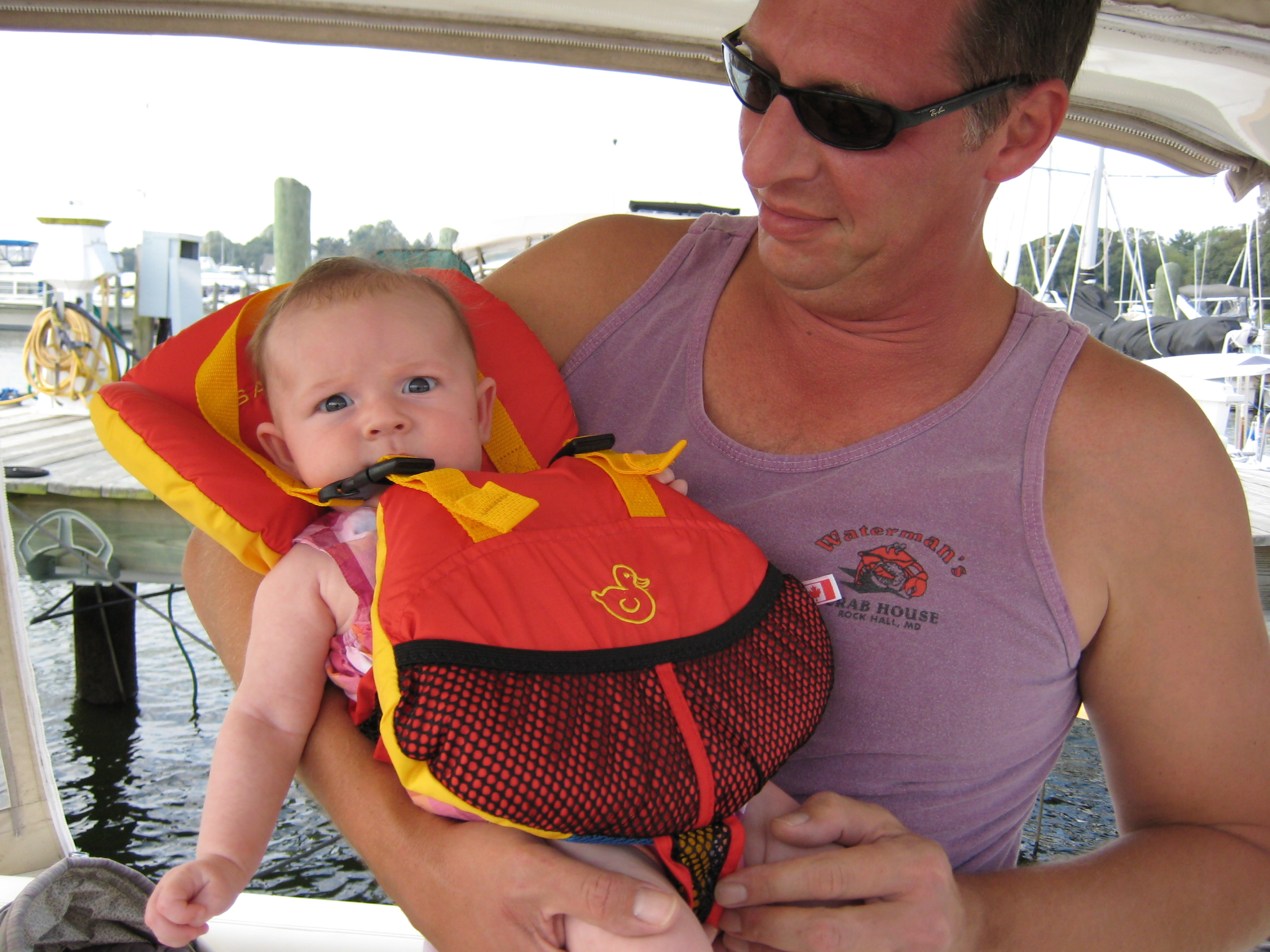 boating with a baby