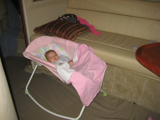 baby bed on boat