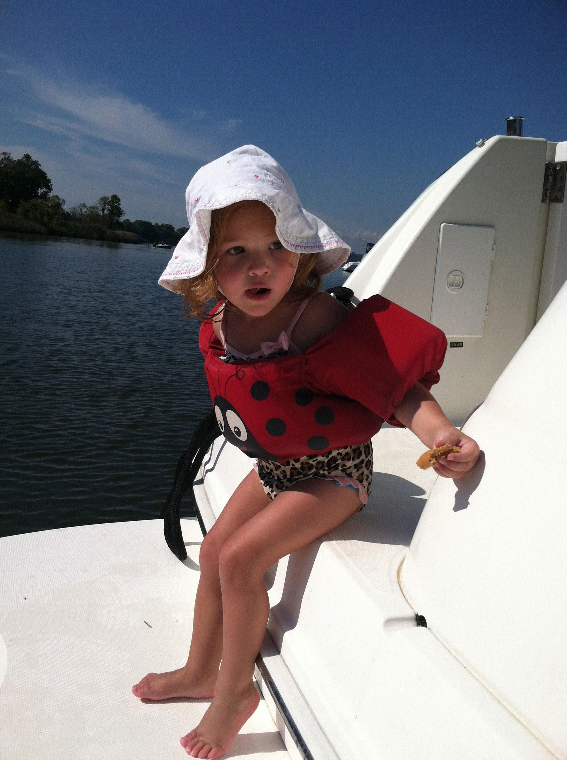 puddle jumper jacket on boat