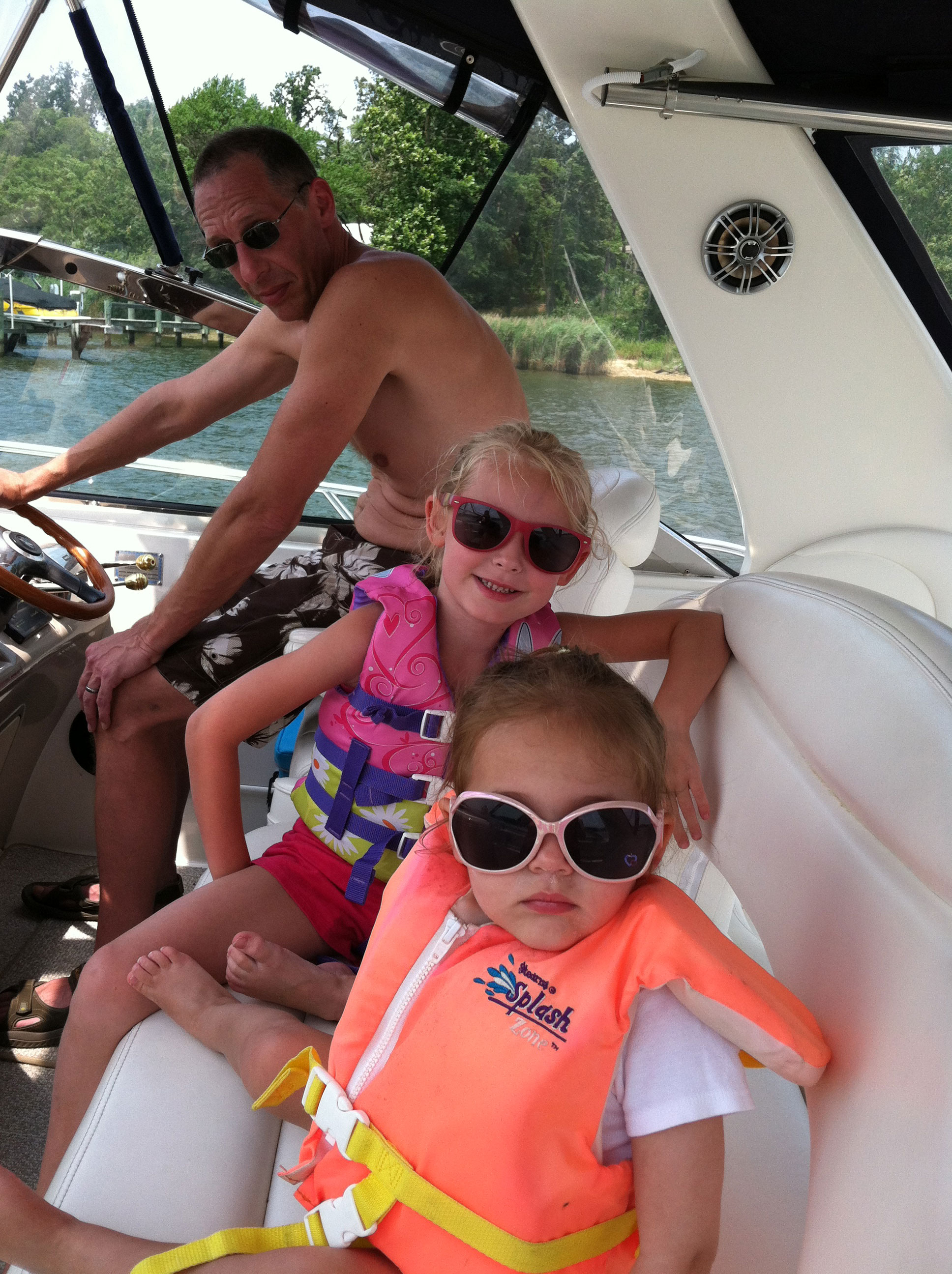 docking boat with kids