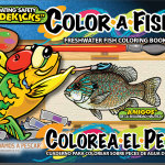 Freshwater Fish Coloring Book for Kids in English and Spanish