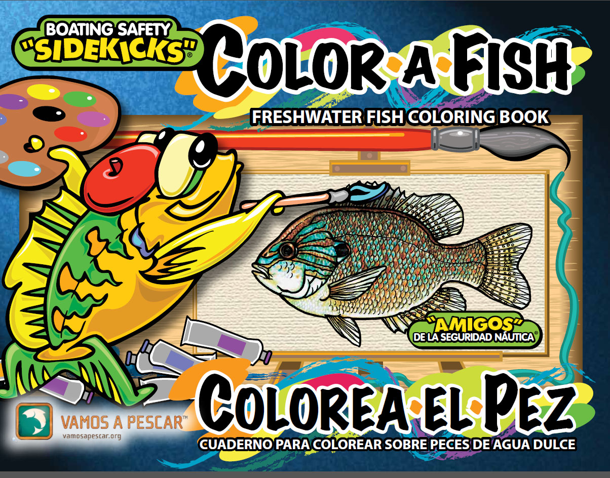 Freshwater fish coloring book for kids in english and for Fishpond books
