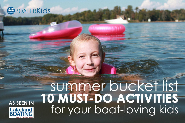 summer bucket list boat kids