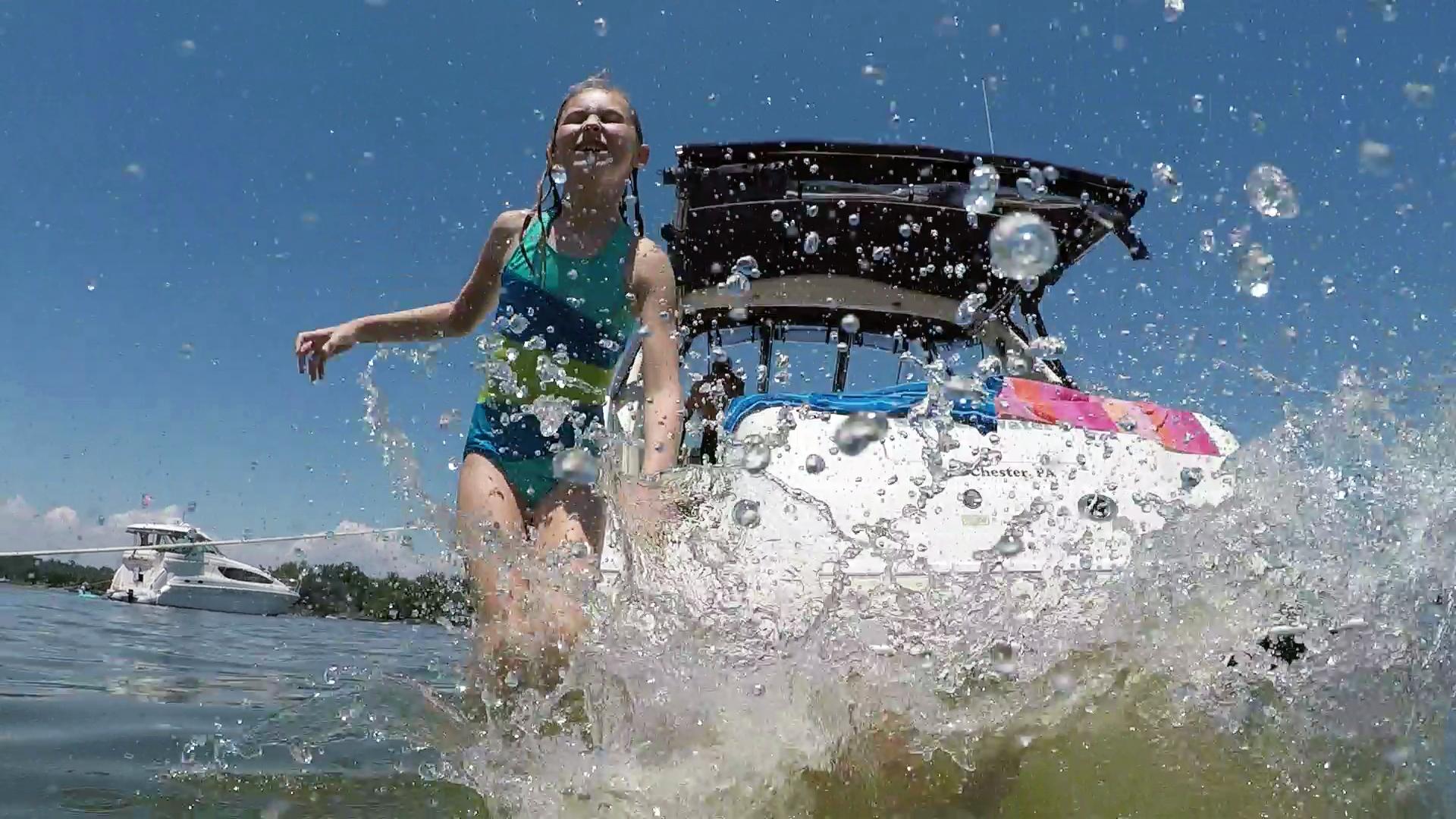 boat jump fun